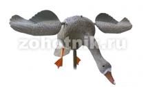 Белолобый гусь с вращающимися крыльями