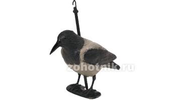 Ворона серая 7341S BIRDLAND на опоре с лапами