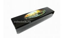Шкатулка для ножа из древесины с рисунком «Охотник на уток»