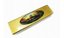 Шкатулка для ножа из древесины с рисунком «Охота на уток»