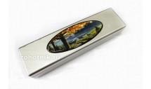 Шкатулка для ножа из древесины с рисунком «Олени»