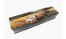 Шкатулка для ножа из древесины с рисунком «Собаки в поле»