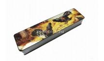 Шкатулка для ножа из древесины с рисунком «Куропатки»