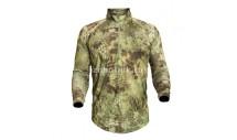 Лонгслив (рубашка) HELIOS LS ZIP от KRYPTEK, камуфляжная расцветка mandrake, размер S