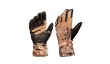 Перчатки ROGUE SOFTSHELL от KRYPTEK с кожаными вставками, камуфляжная расцветка highlander