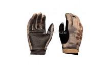 Перчатки GUNSLINGER от KRYPTEK с кожаными вставками, камуфляжная расцветка highlander