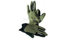 Тактические замшевые зимние перчатки для охоты Complementi от RISERVA, расцветка чёрно-болотная