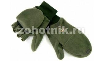 Тактические замшевые зимние перчатки для охоты Complementi от RISERVA, модель 1165, расцветка чёрно-болотная