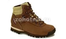 Женские кожаные трекинговые ботинки LADY SOFT от GRONELL, расцветка коричневая и песочно-серая