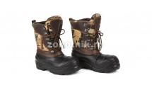 Сапоги-ботинки со шнуровкой YETTI PRO CAMO от DEMAR зимние для охоты или рыбалки со съёмным носком, расцветка коричневая