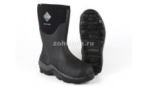 Зимние мужские резиновые сапоги Arctic Sport короткие от MuckBoot для охоты и рыбалки, расцветка чёрная