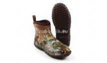 Межсезонные мужские резиновые полусапоги Muckster II Ankle от MuckBoot для охоты и рыбалки, расцветка коричнево-лесная