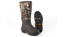 Удлинённые резиновые мужские зимние сапоги Pursuit Glory от MuckBoot для охоты или рыбалки, расцветка коричнево-лесная