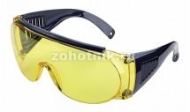 Комплект тактических защитных очков для стрельбы от ALLEN (4 штуки), расцветка жёлтая, возможно носить поверх основных