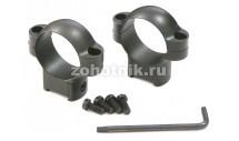 Стальные быстросъёмные кольца среднего профиля на Sako от Leupold, диаметр 26 мм, высота 21.8 мм