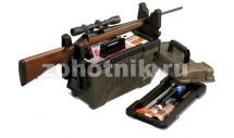 Набор из ящика для хранения и переноски принадлежностей и подставки для чистки оружия