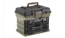 Поликарбонатный водозащитный бокс-ящик с ручкой от Plano для охотничьих принадлежностей, 28 см, расцветка древесная