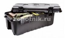 Большой пластиковый бокс-ящик на колёсах с ручкой 108 Quart от Plano для охотничьих принадлежностей, 96 см, чёрный