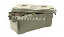 Большой пластиковый бокс-ящик на колёсах с ручкой 108 Quart от Plano для охотничьих принадлежностей, 96 см, защитный