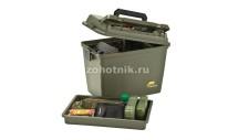 Пластиковый бокс-ящик с ручкой, съёмной перегородкой и лотком от Plano для охотничьих принадлежностей, 43 см