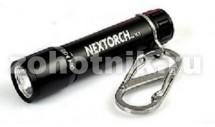 Фонарь на брелке с карабином К1 от NexTORCH, 40 LM, длина 63 мм, расцветка чёрная