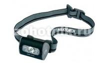 Фонарь налобный TREK-STAR от NexTORCH, до 140 LM, 5 режимов, режим ультрафиолетового света, расцветка камуфляжная