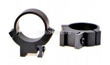 "Кольца крепления 7.3/22 среднего профиля от Warne, диаметр 25.4 мм (1""), ""ласточкин хвост"""
