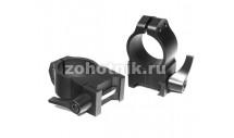 """Быстросъёмные кольца крепления QD 202LM высокого профиля от Warne, 25.4 мм (1""""), Weaver/Picatinny"""