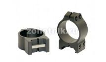 """Быстросъёмные поворотные кольца крепления 203M повышенного профиля от Warne, 25.4 мм (1""""), Weaver/Picatinny"""