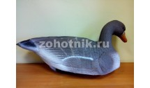 Чучело отдыхающего гуменника (серого гуся) с антибликовым покрытием на пластиковой стойке от NORTH WAY