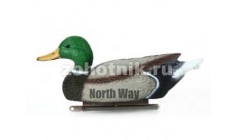 Чучело плавающего белолобого гуся с антибликовым покрытием и килем от NORTH WAY