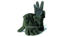 Флисовые перчатки Riserva 1129 с кожаными вставками